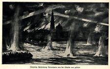 1914 Belgien * Antwerpen: Nächtliche Beschiessung von der Schelde gesehen *  WW1