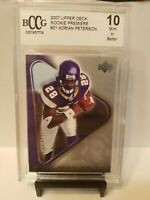 Adrian Peterson 2007 UD ROOKIE PREMIER #21 BCCG 10 MINT VIKINGS