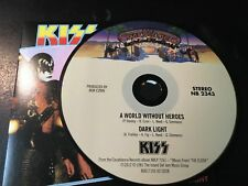 RARE CD Single  Kiss - A World Without Heroes / Dark Light  CASABLANCA NM