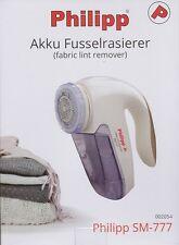 PHILIPP Akku-Fusselrasierer Fusselfräse Flusenentferner, immer wieder aufladbar