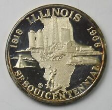 "1818-1968 ILLINOIS SESQUICENTENNIAL""STATE SEAL"" STERLING MEDAL"