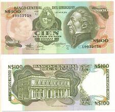 URUGUAY 100 Nuevos Pesos (1987) Pick 62A, UNC *RARE*