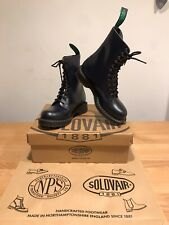 NPS SOLOVAIR Dark Navy Shine Leather 11 Eye Derby Boot!SizeUK7!New!Only £149.90!
