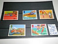 "GRAN BRETAGNA GREAT BRITAIN 1986 ""SPORT ATLETICA CANOA""NUOVI MNH** SET (CAT.5A)"