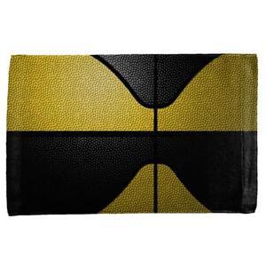 Championship Basketball Yellow & Black All Over Sport Towel
