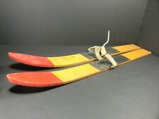 Wooden Snow Skis - 30 inches long - Children Christmas Vintage Antique
