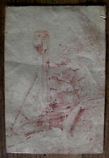 dessin sanguine sur papier vergé école française du XVIIIème