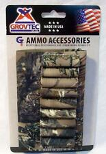 Grovtec Camo Camouflage Tru Timber Rifle Buttstock Cartridge Holder Open Style
