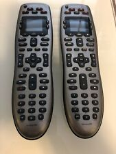 **(2) Logitech Harmony 650 Universal Remote Controls Multiple Devices Silver**