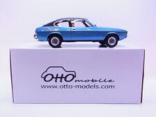 65551 Ottomobile OT810 UVI Ford Capri MKII blau Modellauto 1:18 NEU OVP