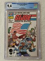 G.I.JOE ORDER OF BATTLE #1 of 4 1986 Marvel Comics CGC 9.4 NM White Pages