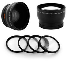 WIDE ANGLE .45x 58MM + Telephoto 2X lens set, MACRO Filter KIT for CANON GL1 GL2