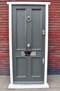 Traditional Hardwood Victorian 4 Panel Front Door! Bespoke! Made to Measure!