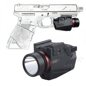 Combo Pistol LED Flashlight Red Dot Laser Sight Fit Glock 17 19 20 21 22 23 30