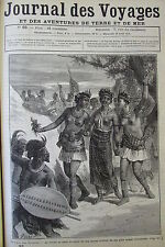 JOURNAL DES VOYAGES N° 93 de 1879 AFRIQUE MARIAGE ET COUTUMES ZOULOU
