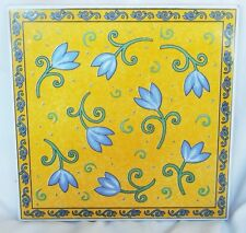 Furio Home Multi-Color Floral Art Pottery Terra Cotta Tile Trivet (Italy)