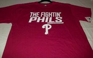Philadelphia Phillies Fighting Phils T-Shirt Red Plus Sizes Cool Theme MLB
