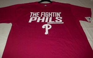 Philadelphia Phillies Fighting Phils T-Shirt Red Plus Sizes Cool Theme MLB