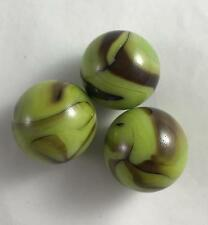 NEW Lot of 3 Marbles 25mm Grasshopper 118245 House of Marbles Green Brown