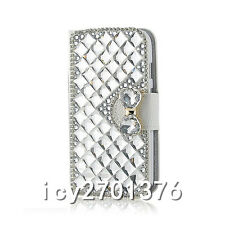 Handmade Magnetic Bling Luxury Diamonds Crystal Leather wallet flip Cover Case G
