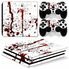 Bloody Horror Sony PS4 PRO Console & 2 Controllers Decal Vinyl Skin Wrap Sticker