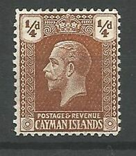 Royalty George V (1910-1936) Caymanian Stamps