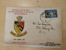 Malaya stamp Private FDC 1961 Installation Yang Di-pertuan Besar Negri Sembilan
