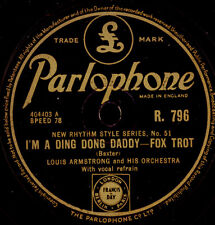 LOUIS ARMSTRONG & ORCH. I'm a Ding Dong Daddy/ TRUMBAUER Bye, bye, Blues   X2777