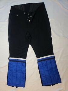 Vintage Obermeyer Ski Snow Pants Black Blue Men's 32 S 70s 80s 1970s NEW
