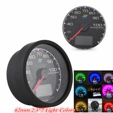 62mm 2.5''Water temperature 7 Light Colors LCD Display Voltage Meter Car Gauge