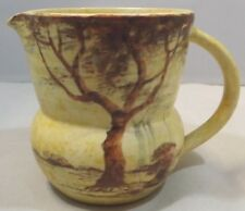 Vintage 1930s Edward Radford Pottery Jug - 'Trees' Pattern by James Harrison