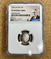 1995-S SILVER ROOSEVELT DIME 10C NGC PF69 ULTRA CAMEO Proof