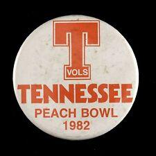 "1982 Tennessee Vols Peach Bowl 3 1/2"" Pinback Button"
