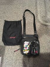 4646dcf07e Vintage Ed Hardy Black Leather and Vinyl Messanger Cross-body Bag Purse  Handbag