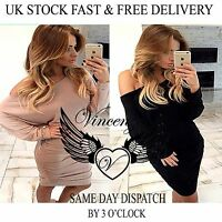 Vincenza Womens Ladies Bodycon One Shoulder Dress Ladies Party Slim Evening UK