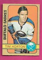 1972-73 OPC # 197 SABRES  TIM HORTON GOOD CARD (INV# D7739)