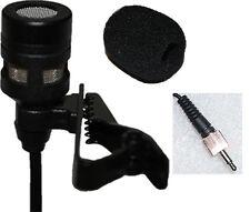 Lavalier Lapel Microphone w/ 3.5mm Screw Lock Connector for Sennheiser Wireless