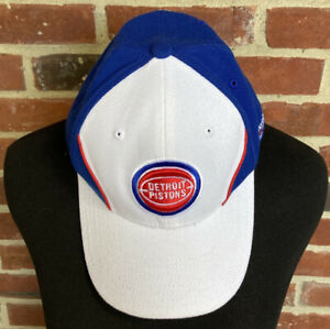 Detroit Pistons NBA Reebok Fitted Hat Hardwood Classics SIZE UNKNOWN NO TAG