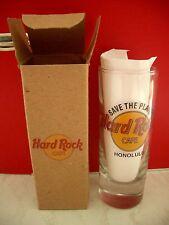 HRC Hard Rock Cafe Honolulu STP Save the Planet Shot Glass Schnapsglas New