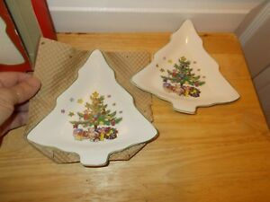 """Pair of 6"""" CHRISTMAS CANDY DISHES by NIKKO from Dillard's"""
