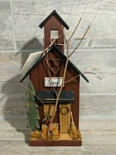Wooden Country School House Kentucky Crafted Handmade Painted  Wood Decor