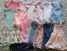 Girls Spring Summer Clothes Bundle 9-12 Months Inc Dresses Tops Swimsuit etc
