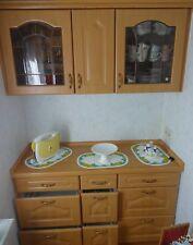 ♥ღ kleine Garten Einbauküche Erle  ♥ 1,30 m breit + Einzelschrank 30 cm