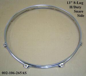 """13"""" 8-Lug Triple Flanged H/D BOTTOM Hoop / Ring / Rim Snare Drum 002-106-265AS"""