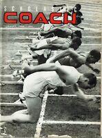 VINTAGE FEBRUARY 1965 + SCHOLASTIC COACH MAGAZINE + BASEBALL + PITCHING