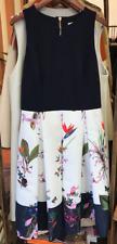 """Nouveau Ted Baker """"Petali Oasis tropicale"""" imprimé floral robe de soirée taille 5/UK16"""
