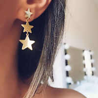 Fashion Women Silver Star Geometric Earring Stud Dangle Earrings Jewelry Gift