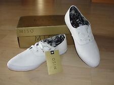 MISO Point Lady Canvas Sneaker Textil Schuhe Schnürer weiß spitze 38 NEU!