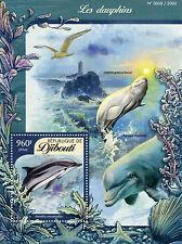 Djibouti 2016 MNH Dolphins 1v S/S Marine Animals Striped Dolphin