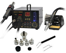 110V AOYUE 968A+ SMD/SMT 3 in1 Hot Air /Solder Station/Smoking Device Repair